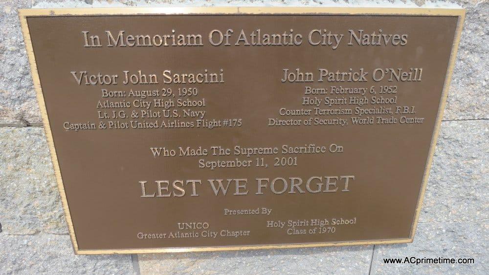 Atlantic City Sept 11 memorial